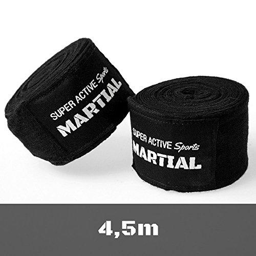 Boxbandagen von MARTIAL mit bestem Klett und Daumenschlaufe. Bandagen ohne Ausleiern für MMA, Boxen, Kickboxen Abbildung 3