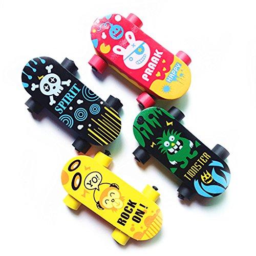 joizo Kreative Nette Kawaii Skateboard Gummiradiergummi- für Kind-Geschenk-Artikel der Neuheit School Material Brilliant Briefpapier 5 Stück
