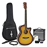 Pack Guitare Electro Acoustique Pan Coupé Simple Sunburst + Ampli 15W par Gear4music
