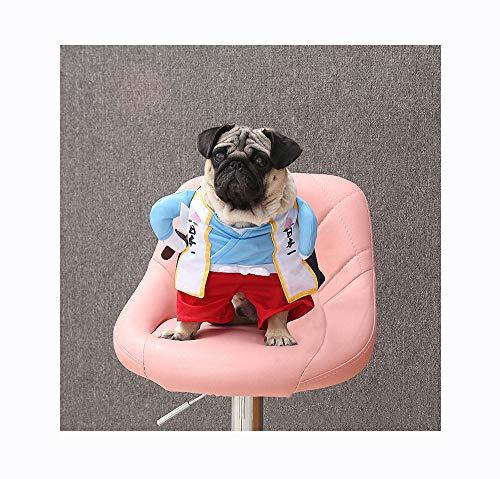 Kostüm Hunde Samurai - FZ FUTURE Pet Kleiner Kriegeranzug, Halloween Lustiges Haustier Kostüm, Halloween Hunde Kostüm, Hunde kostümiert Nettes Cosplay, für Halloween, Partys, Feste-Größe Passend,XL