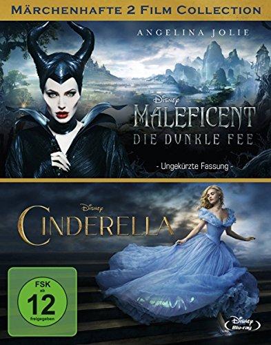 Maleficent - Die dunkle Fee / Cinderella [Blu-ray] (Disney Cinderella Filme)