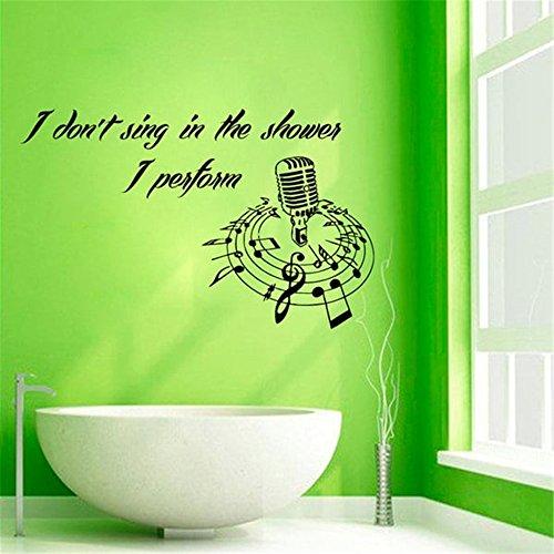 Wandtattoo Kinderzimmer Wandtattoo Wohnzimmer Ich singe nicht in der Dusche, die ich im Badezimmerdekor aufführe
