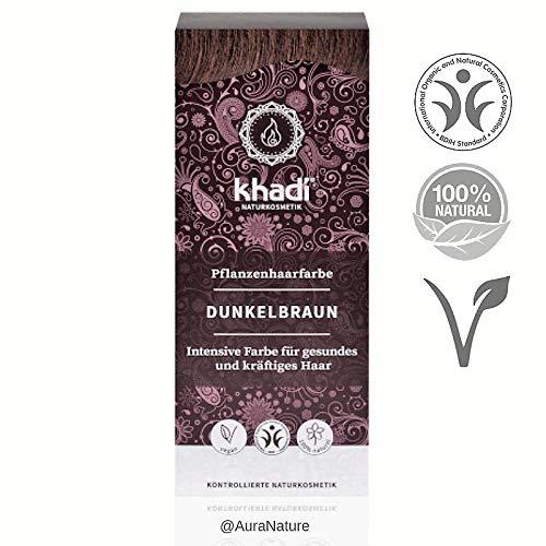 Khadi Tinta per capelli da erbe naturali colore castano scuro