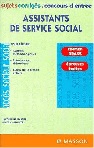 Assistants de service social. : Sujets corrigés