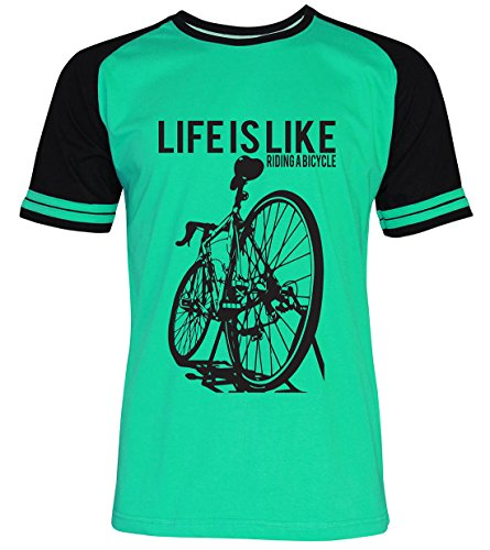 PALLAS Unisex's Cycling Life Is Like Riding A Bicycle GreenBlack