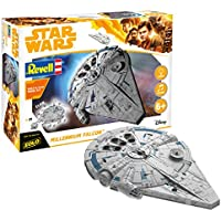 Revell GmbH 06767 Star Wars Han Solo Millennium Falcon Build and Play Model Kit with Lights/Sounds