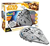 Revell 06767 Millennium Falcon aus Disney Star Wars HAN Solo Build&Play, BAU-und Spielspass, grau