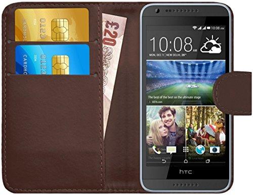 G-Shield Hülle für HTC Desire 620/620g Klapphülle mit Kartenfach - Braun