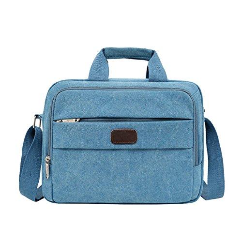 Männer Handtasche Einfache Schulter Messenger Bag Freizeit Retro Leinwand Tasche Blue
