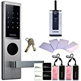 SAMSUNG SHS-H630 New version of SAMSUNG SHS-6020 digital door lock keyless touchpad security EZON + 4pcs of RFID Cards + 4pcs of Key Tags + 4pcs of Sticky Key Tags + 2pcs of Emergency keys + Remote by Samsung