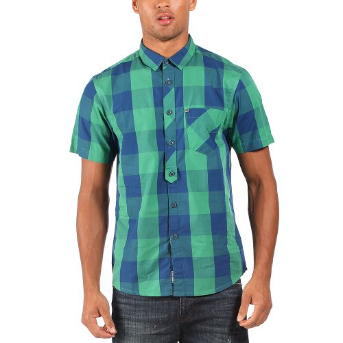 Bench Pea Pod E - Chemise casual - Coupe droite - Manches courtes - Homme Vert (Pine Green)