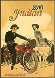 Pixiluv 2019Calendrier Mural [12Pages 20,3x 27,9cm] Moto Bike Vélo Vintage ADS Poster