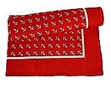 YACHTICON Viereck-Halstuch mit Ankermotiv, Farbe:rot