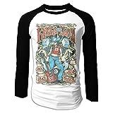 Photo de Coverunny pour des Hommes 100% Coton Col Rond Baseball Raglan Pleine Longueur Manches Longues Imprimé T-Shirts Kings of Leon Design Jours De Semaine Tops Blouse par Coverunny