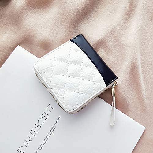 ITTXTTI portafoglio piccolo fragranza romboidale in femmina breve paragrafo  in nuovi europei e americani moda in paragrafo pelle contrasto Coloreeee ... 9581da4a475