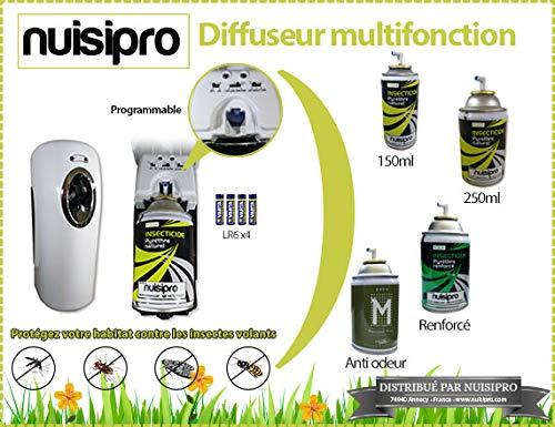 NUISIPRO Spray pyrèthre Naturel 150ml - Anti Mouches, Anti moustiques