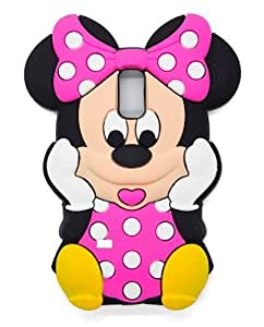 I9600 rose S5 Disney 3D Minnie Housse Etui silicone souple pour Samsung Galaxy i9600 S5 SV SV
