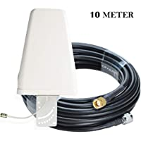 OXYWAVE Outdoor LPDA Antenna SMA Male to N Male Connector with LMR 400 Low Loss Coaxial Cable - 10 Meters (32 Feet)