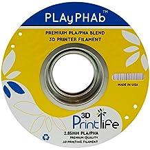 3D Printlife Pla / Pha Miscela 3D Filamento Stampante, Precisione Dimensionale <+/- 0.05mm, 2.85mm, Grigio