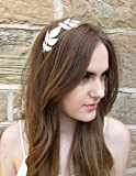 Silver Grecian Leaf Headband Vintage 1920s Leaves Tiara Bridal Boho Metal L97 *EXCLUSIVELY SOLD BY STARCROSSED BEAUTY*