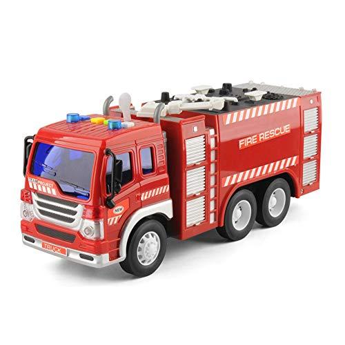 MAyouth 1 / 2Pcs elektrische Feuerwehrauto Spielzeugauto, Rettungsfahrzeug mit Brights Lichter Ton, Wasser zarte Feuerwehrauto Spielzeug für Kinder Jungen und Mädchen (1PCS)