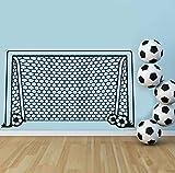 xlei Wandaufkleber Fußball Fußball Tor Net Ball Sport Wandtattoo Vinyl Dekor Kunst Wandaufkleber Für Jungen Zimmer Kinder Kindergarten Wohnkultur Wandbild
