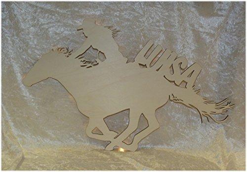 Schlummerlicht24 Led Holz Wandtattoo Deko-Lampe Ein Cowgirl-Hut mit -