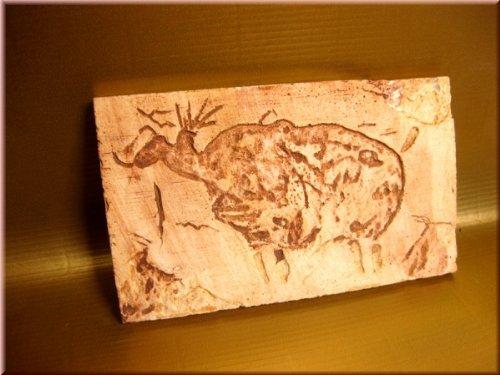 Ägypten Dekorfliese Nr. 9, Höhlenmalerei, 3 Stck, Terrarien-D