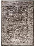 benuta Vintage Teppich im Used-Look Velvet Braun 140x200 cm | Moderner Teppich für Schlafzimmer und Wohnzimmer