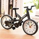 Deal of the Day – Buy KHSKX Creative mountain bike alarm, the Korean version of simulation model of desktop ornaments, 123*199mm m-cute student desk clock , black at Price 11950.00