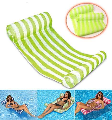 Vidtoss Erwachsene Kinder Aufblasbarer Schwimmbad Liege Perfekt Wasser Hängematte für den Strand, Schwimmbad und Whirlpool L133 x W66 x H22CM - Grün - Grünes Wasser, Whirlpool