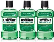 Listerine Fresh Burst Mouthwash Liquid, Removes 99.9% Germs, 250ml (Buy 2 Get 1 Free)