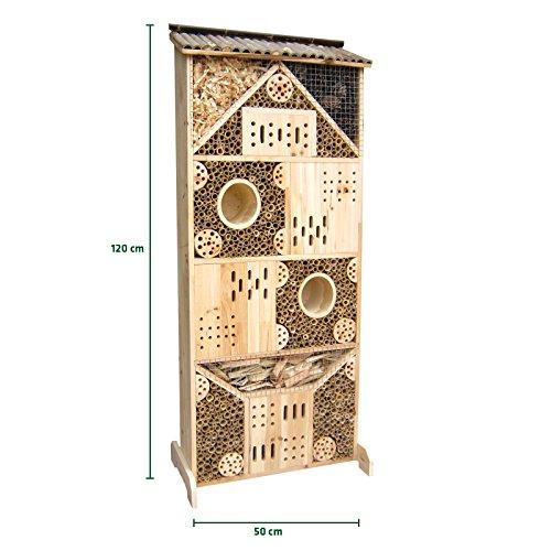 #Gardigo Insektenhotel XXXL 1,20 m hoch, Nistkasten und Bruthilfe für Bienen, Schmetterlinge, Marienkäfer, Florfliegen etc.#