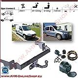 AHK Anhängerkupplung mit Elektrosatz 13 polig für Opel Corsa C Combo 2001-2011 Anhängevorrichtung Hängevorrichtung - starr, mit angeschraubtem Kugelkopf