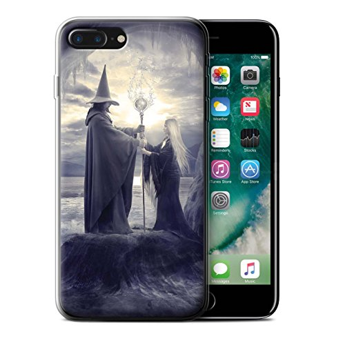 Officiel Elena Dudina Coque / Etui Gel TPU pour Apple iPhone 7 Plus / Maestro/Sorcier Design / Magie Noire Collection Maestro/Sorcier