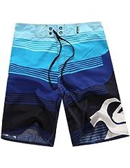 GenialES Pantalones Cortos Playa Bañador de Surf para Hombre