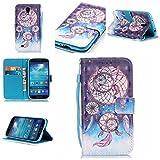 Chreey Coque Samsung Galaxy S4 / GT-i9500 (5 pouces)(3D-visuel),PU Cuir Portefeuille Etui Housse Case Cover ,carte de crédit Fentes pour ,idéal pour protéger votre téléphone