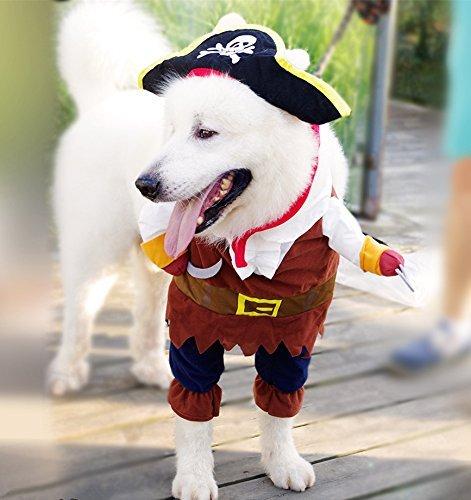 Imagen de pawz carretera piratas del caribe disfraz de pet perro de dibujos animados sudaderas con capucha halloween transfiguración equipo alternativa
