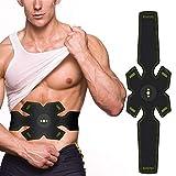 Elettrostimolatore Cintura per Addominali Frontali e Laterali Unisex – Cintura per addominali con stimolazione muscolare elettrica (EMS) - specifici per l'allenamento e la tonificazione dell'addome.