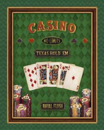Texas Hold'em par Brissonnet, Daphné – Fine Art Print Disponible sur papier et toile, Toile, SMALL (18.5 x 23.5 Inches )