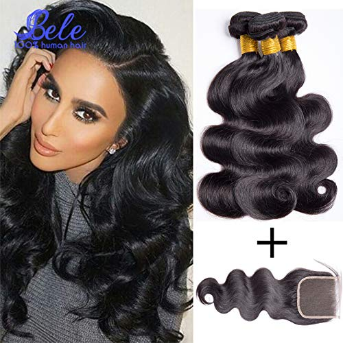 Home Hj Weave Beauty 7a Malaysian Body Wave Human Hair Bundles With Closure Natural Color Virgin Hair Free Shipping Exquisite Craftsmanship;