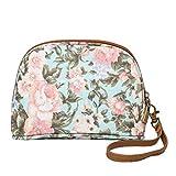 UFACE Fashion Lady Blumendruck Nylon Clutch Bag GeldböRse Frauen Mode Druck ReißVerschluss Handtasche MüNztüTe Make-Up Tasche Handytasche (Grün)