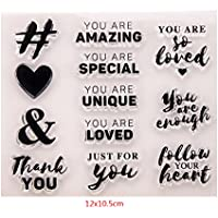 Letters Clear Silicone Rubber Seal Stamp DIY Album Scrapbooking Photo Card Decor