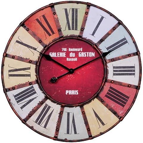 Wohnling WL1.234 Galerie - Reloj de pared (60cm, números grandes), diseño vintage