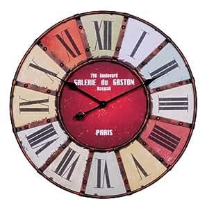 Horloge murale 60 cm Grandes aiguilles Design Vintage
