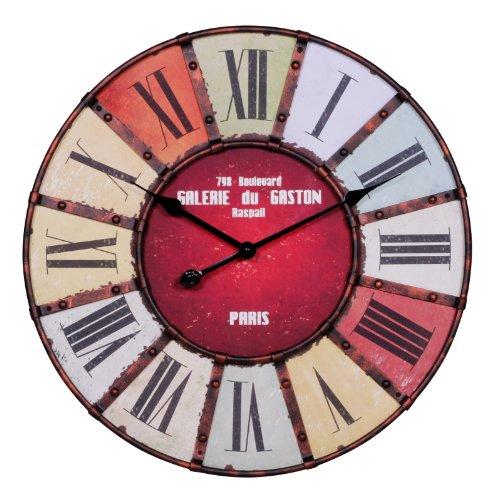 Wohnling WL1.234 Galerie Horloge murale rétro à aiguilles longues Diamètre 60 cm