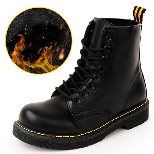 Frauen / Damen Winter Martin Stiefel / Schuhe.Plus Kaschmir wasserdicht rutschfeste Advanced synthetische PU Schnürstiefeletten Schwarz / Rot , black , 38 (Knöchel-schlauch)