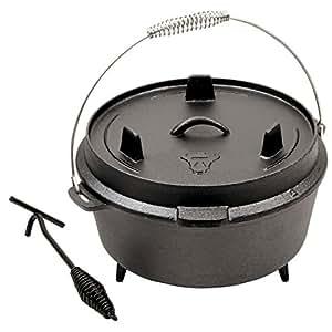 dutch oven cast iron 6qt garden outdoors. Black Bedroom Furniture Sets. Home Design Ideas