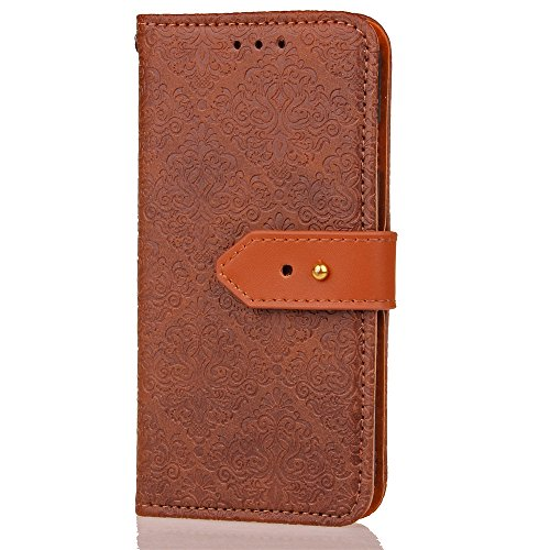 Protective Case Cover for iPhone X,iPhone X Coque PU Leather,iPhone X Neo Case,Hpory élégant Retro PU Cuir Cover Case Book Style Folio Flip Up Stand Fonction Support PU Leather Walllet Case with Credi 7#