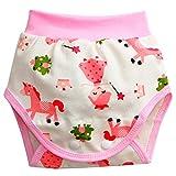 ARAUS-Baby Unterhose Schritt offen baby jungen mädchen Trainer Windelhosen aus Baumwolle Trainerhosen Unterwäsche Pink 85